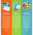 Set of banners back to school with stationery vector image vector image