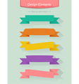 Set with ribbons for your design vector image