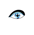 sign eyes vector image vector image