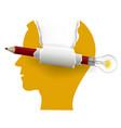 smart solutions paper head concept vector image vector image