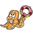 Smiling Octopus vector image vector image