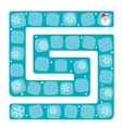 Snow labyrinth of a board vector image