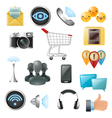 Social Media Symbols Accessories Icons Collection vector image