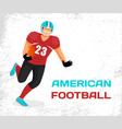 sportsman run with ball play in american football vector image vector image