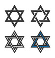 sstar of david symbol filled and outlined style vector image