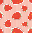 Strawberry pattern Seamless texture with ripe red vector image vector image