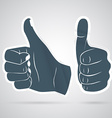 Thumbs up sticker vector image vector image