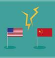 trade war america china tariff business global vector image