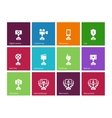 Trophy icons on color background vector image vector image