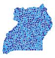 uganda map composition of pixels vector image