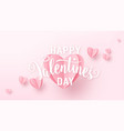 valentines day background with light pink paper vector image vector image