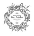vintage elegant wedding invitation vector image vector image