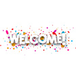 Welcome paper banner vector image vector image
