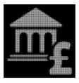 white halftone museum pound payment icon vector image vector image