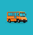 yellow bus city public transport vector image