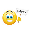 yellow emoticons and emojis vector image vector image
