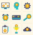 bitcoin digital money cryptocurrency system and vector image