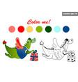 dragon color vector image