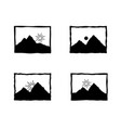 photo shoot retro icon landscape web picture sign vector image
