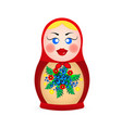 russian dolls icons vector image