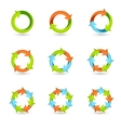 Circle Arrow Icons vector image