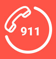 911 emergency call number isolated on a white vector image vector image