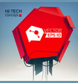 abstract technologic design concept vector image vector image