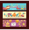 Amusement Park Banners vector image vector image