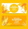 banner design of splash summer sale vector image