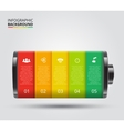 battery element for infographic vector image