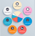business infographics circles with flat icons vector image vector image