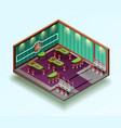 casino hall isometric interior vector image vector image