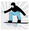 collection of snowboard skiers vector image vector image