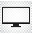 computer monitor flat icon tv symbol simple vector image