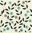 creative seamless pattern with stylish flowers vector image vector image