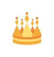crown monarch jewel royalty heraldic vector image