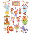 Cute collection of circus vector image vector image