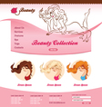 Design for beauty web site vector image vector image