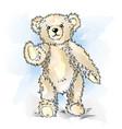 drawing teddy bear color vector image vector image