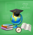 education realistic design concept vector image