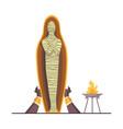 egyptian mummy ancient archaeology sarcophagus vector image