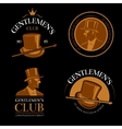 Elite mens club vintage labels vector image vector image