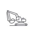 excavator works line icon concept excavator works vector image vector image