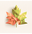 Fall season triangle leaf composition concept vector image vector image