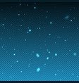 falling winter christmas realistic snow vector image vector image