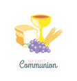 First communion symbols for a nice invitation