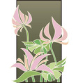 Flowers composition in Art Deco style vector image