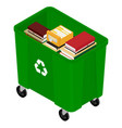 garbage and books vector image vector image