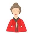 Geisha icon cartoon style vector image