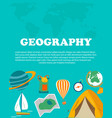 geography study education and science concepts vector image